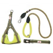 Long Paws Comfort Collection - Green Collar, Harness & Leash 110cm