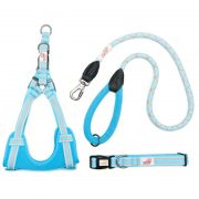 Long Paws Comfort Collection - Light Blue Collar, Harness & Leash 110cm
