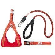 Long Paws Comfort Collection - Orange Collar, Harness & Leash 110cm